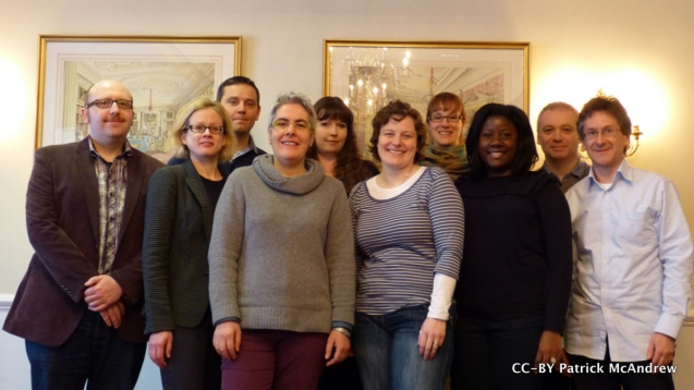 Picture of all 10 members of OER Research Hub take on away day in January 2013