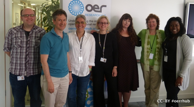 OERRH visiting fellow, Una Daly, (second from right) and some of the OERRH team.