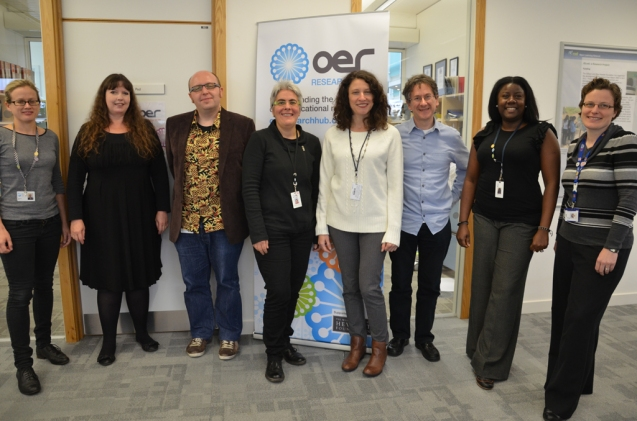 Open Fellow Sara Frank Bristow (4th from right) with members of OERRH team