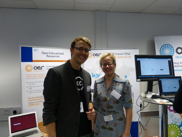 Open fellow Creative Commons' Billy Meinke and OERRH Researcher Beck Pitt at The OU's Learn About Fair