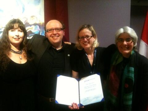 Award winning OER Research Hub team
