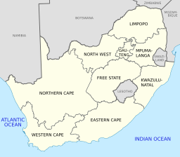 Picture Credit: By Htonl (Own work) CC-BY-SA-3.0 http://commons.wikimedia.org/wiki/File:Map_of_South_Africa_with_English_labels.svg