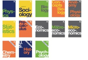 OSC Textbooks (Screenshot from: http://openstaxcollege.org/faculty)