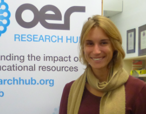 Megan during her visit to the OERRH (CC-BY OER Research Hub)