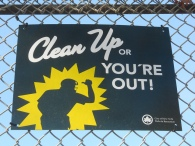 Clean Up or You're Out! Brooklyn Street Sign