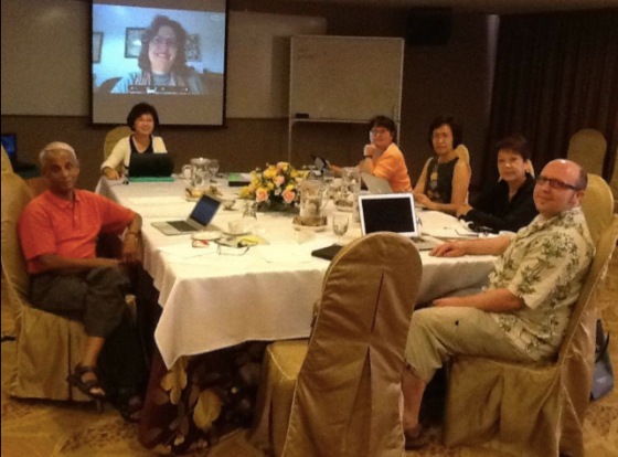 Rob (front) with the ROER4D Impact Studies team (Picture credit: ROER4D CC-BY 4.0)