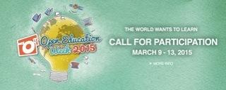 Mark the Date! Open Education Week (9-13 March 2015)
