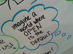 """Imagine a World Where OPEN is the DEFAULT"" (Beck Pitt, CC-BY 4.0)"