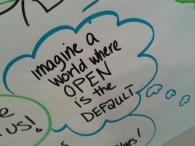 """Imagine a World Where OPEN is the DEFAULT"" (Beck Pitt, CC-BY 4.0)"